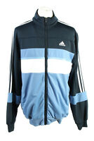 Vintage Adidas Mens Full Zip Tracksuit Top 3 Stripes Size 42/44 Multi - SW2534