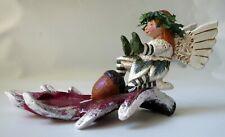 Schifferl Figurine Angel Candle Holder Leaf Acorn Midwest Rare