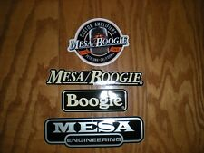 MESA BOOGIE ENGINEERING GUITAR AMP BOOGIE DECAL STICKER 4PC SET