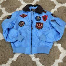 Top Gun Official B-15 Flight Bomber Jacket w/Patches Men's XL