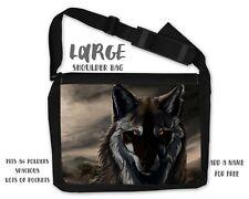 Wolf Wolves Shoulder Reporter Messenger Personalised Bag