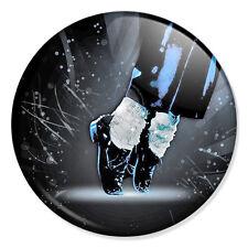 "Michael Jackson 25mm 1"" Pin Badge Button MJ Moonwalk Feet Iconic Artwork"