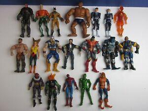 19 marvel dc LEGENDS SELECT ACTION FIGURE lot set X-MEN FF4 THOR GOBLIN BATMAN
