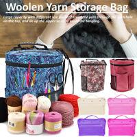 Knitting Bag Crocheting Tools Organizer Holder Woolen Yarn Storage Case Craft
