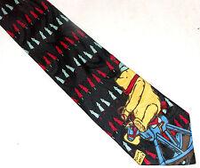Pooh Christmas Mens Tie Disney Classic Esquisite Apparel Black