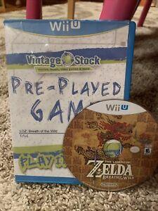 The Legend of Zelda: Breath of the Wild (Wii U, 2017) Disc + Vintage Stock Case