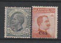FRANCOBOLLI - 1921/22 REGNO EGEO COS C.15+20 MLH D/5833