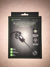 NEW Andrea Electronic BT-201 Bluetooth Headset NOISE CANCELLING HANDS