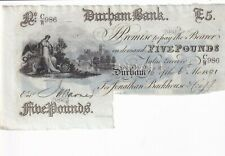 More details for durham bank 1891  £5 note