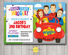 Printable Birthday Wiggles Invitation Any Age Big Red Car Fun
