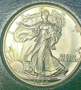 1936 S Walking Liberty silver half dollar, BU gem