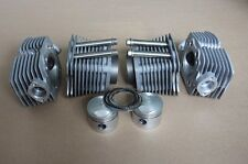 Big set of cylinders and heads, pistons with rings for motorcycle Ural 750cc.