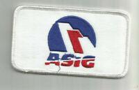 Aircraft Service International Group (ASIG) employee patch 2-1/2X 4-1/2 #F