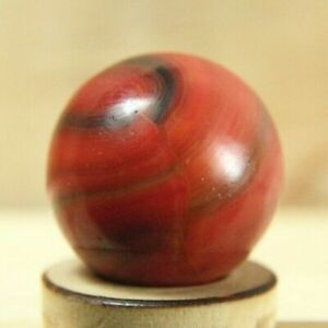"""awesome little 18/32"""" GOLDEN BASE OXBLOOD BLENDED RED MARBLE KING RAINBO MARBLE"""