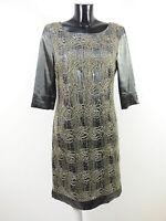APANAGE Damen Kleid GR 38 DE / Grau mit Muster Strass Neuwertig ( R 1713 )