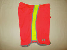 UNDER ARMOUR HEAT GEAR BRIGHT ORANGE ATHLETIC SHORTS MENS LARGE EXCELLENT COND.
