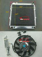 3 Row Aluminum Radiator & Fan for Toyota Pickup Truck 4Runner 3.0L V6 1988-1995