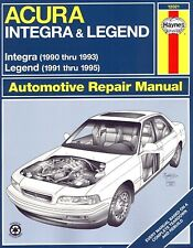 Acura Repair Manual Integra 1990-1993, Legend 1991-1995