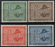 Liechtenstein 1953 Sg # 313-6 Conferencia Scout Mnh Set #d 1129