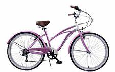 "19"" Cadre Femmes American USA Californian style Beach cruiser vélo 6 Vitesse Cycle"