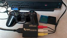PS2 Fat w/ HDMI Converter Memory Cards + Controller WORKING SCPH-30001 mod ENKO