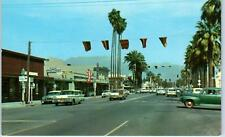 HEMET, California  CA    Florida Avenue  STREET SCENE  c1950s  Cars  Postcard
