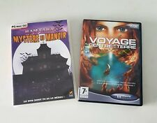 lot 2 jeux PC Jules Verne VOYAGE AU CENTRE DE LA TERRE & mystère au manoir - TBE
