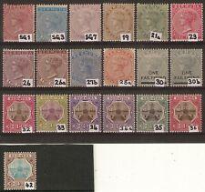 Bermuda QV to EDVII stamps (19) Mint Hinged (14) Unused no gum (5)
