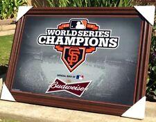 "Budweiser San Francisco Giants MLB 2012 Baseball Champs Beer Bar Mirror New"""