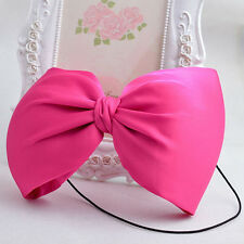 Charm Big Bow Elasticity Hair Band for Women GIrl Baby Infant Hair Accessories