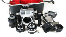 MAMIYA PRESS SUPER 23 WITH 3 LENSES AND ACCESSORIES IN ORIG. CASE