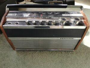 Vintage Ferguson 3162 Autotwin transistor radio.