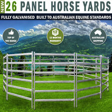 26 Panel Horse Yards Inc Gate, Round Yard, Cattle Fences, Corral 18m Diameter