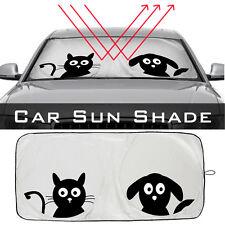 1x Pattern Car Front Window Sun Visor Interior High Quality Nylon Car Sunshades