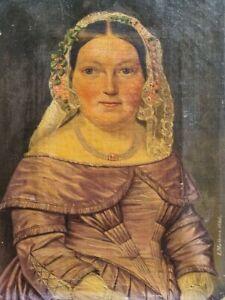 antikes Ölbild Biedermeier Gemälde Portrait signiert, datiert 1846