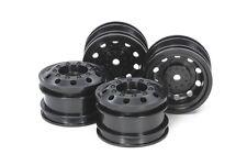 Tamiya 54741 RC Car On Road Racing Truck Wheels (Black,4pcs) Set For TT01E/TT02