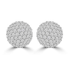 2.35 ct Half Ball Round Cut Diamond Earrings G Color SI-1 Clarity