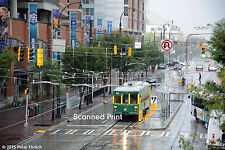 Original Photograph: Charlotte streetcar 91 arr CTC/Arena in rain