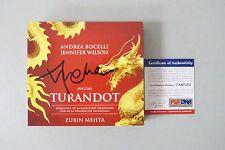 52204 Andrea Bocelli Opera Puccini Turandot Signed CD Album AUTO PSA/DNA COA