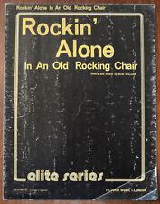 Rockin 'seul dans un vieux fauteuil à bascule par Bob Miller – Pub.1968
