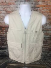 Woolrich Women's Fishing Photography Khaki Beige Stone Sleeveless Vest Small