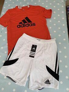 Boys Adidas Shorts And T Shirt Set Age 9-10