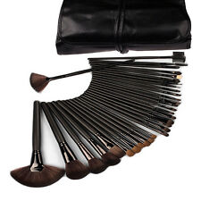 Black 32 PCS Makeup Brush Set Pro ma Make up Cosmetic Brushes Kit + Pouch Case