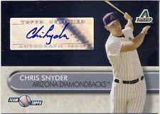 2005 Team Topps Chris Snyder Autograph Arizona Diamondbacks