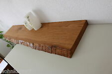Tableau Mural Chêne sauvage bois massif Board REGAL Steckboard Etagère baumkante