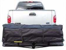 "60""x20"" Hitch Mount Folding Cargo Carrier Basket w/Weather-Resistant Luggage Bag"