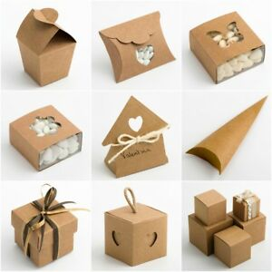 RUSTIC KRAFT Favour Boxes DIY Wedding Natural Vintage Shabby Chic - BOX ONLY