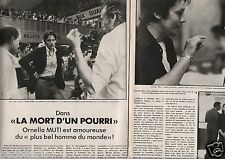 Coupure de presse Clipping 1978 Alain Delon La mort d'un Pourri (2 pages)