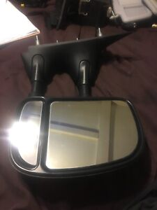 2003 - 2014 FORD E150 E250 Passenger SIDE VIEW MANUAL DUAL ARM DOOR MIRROR OEM