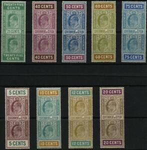 CEYLON: Edward VII Telegraph/Revenue Stamps - Unused - Stock Cards (40139)